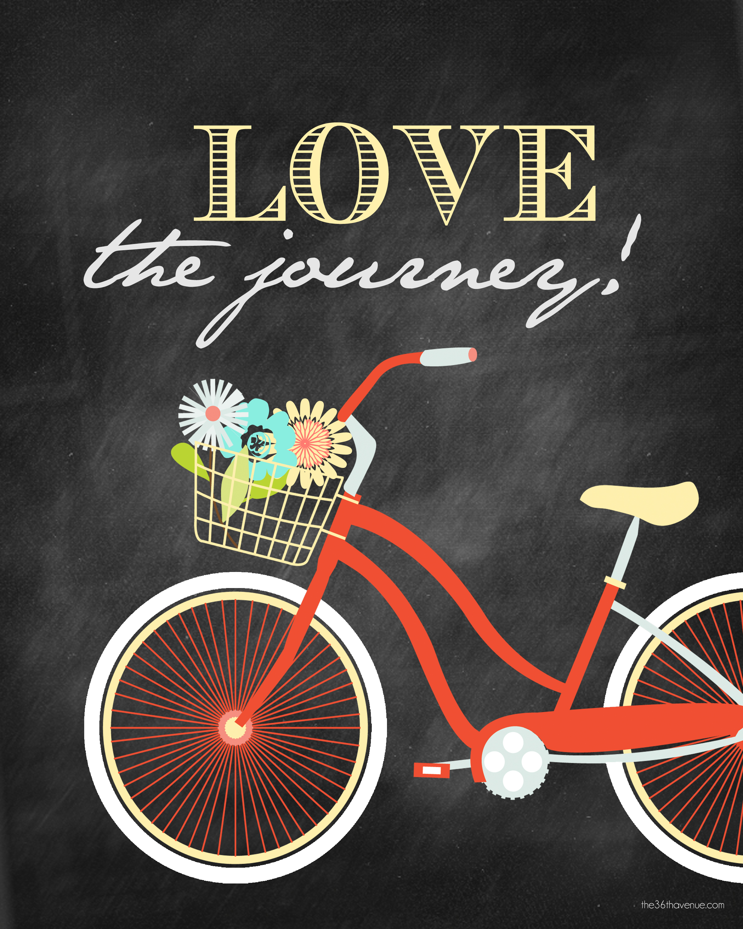 Journey the Love Chalkboard Printables