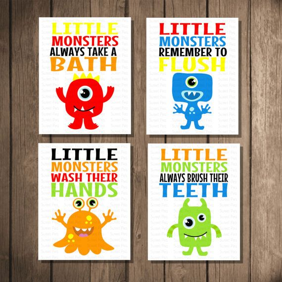 5 Images of Printable Kids Bathroom Decor