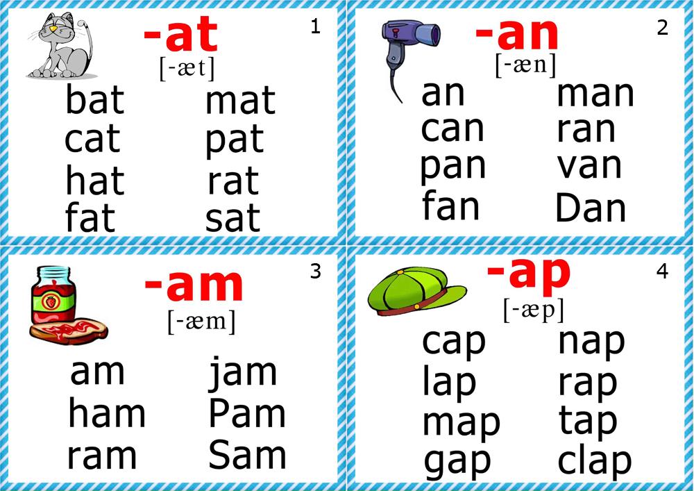 math worksheet : 4 best images of printable phonics word cards  kindergarten  : Blending Worksheets For Kindergarten