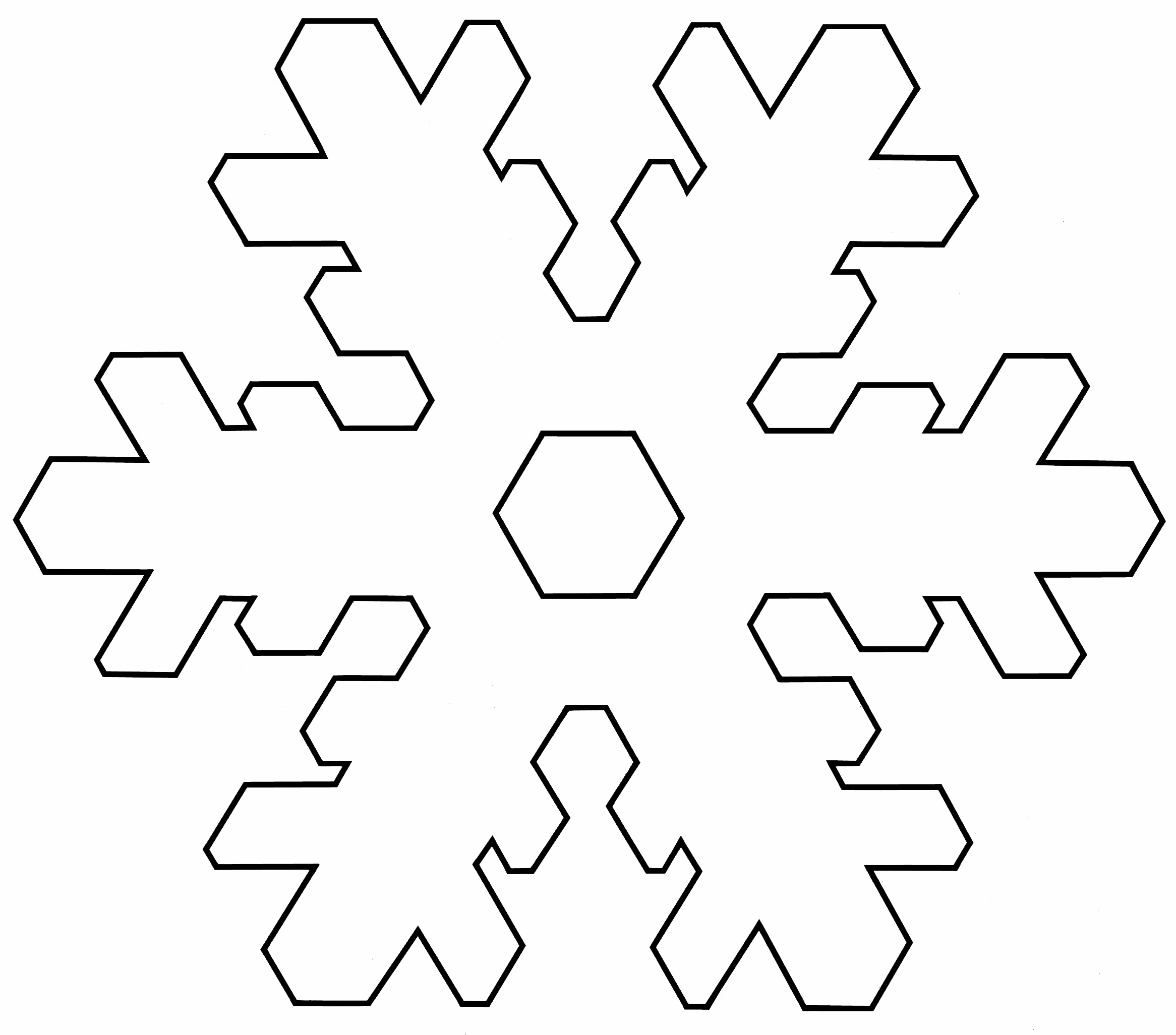 8 Images of Large Snowflake Printable Template