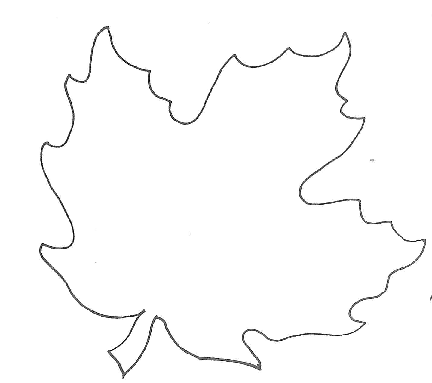 5 Images of Maple Leaf Printable Template