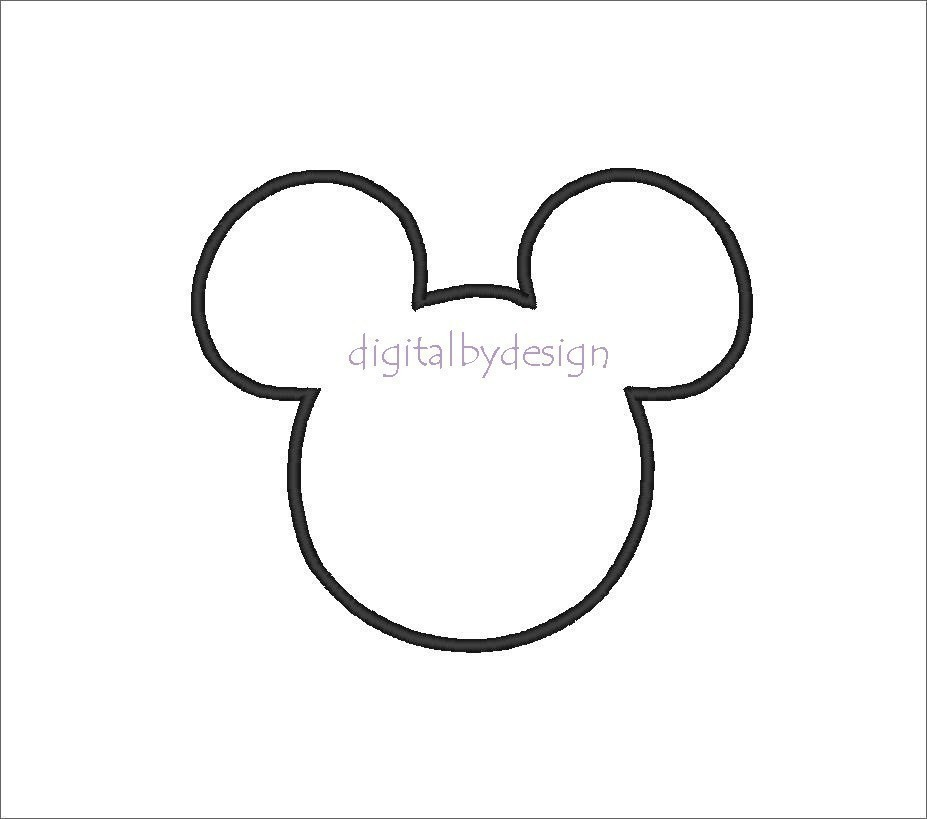 9 Images of Mickey Mouse Silhouette Printable
