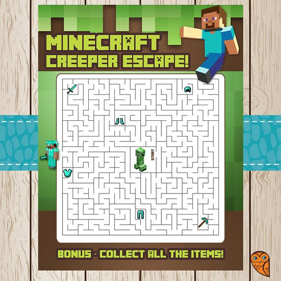 6 Images of Printable Minecraft Maze
