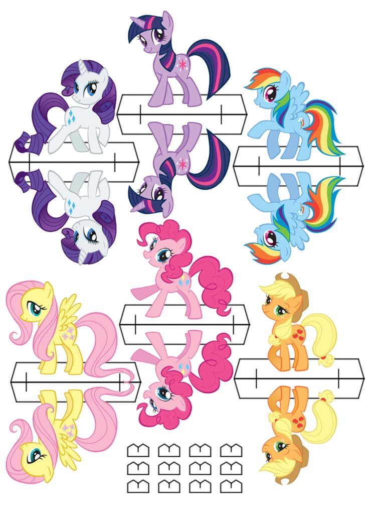 7 Images of MLP Printable Cutouts