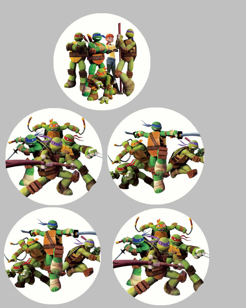 8 Images of Ninja Turtle Birthday Printables