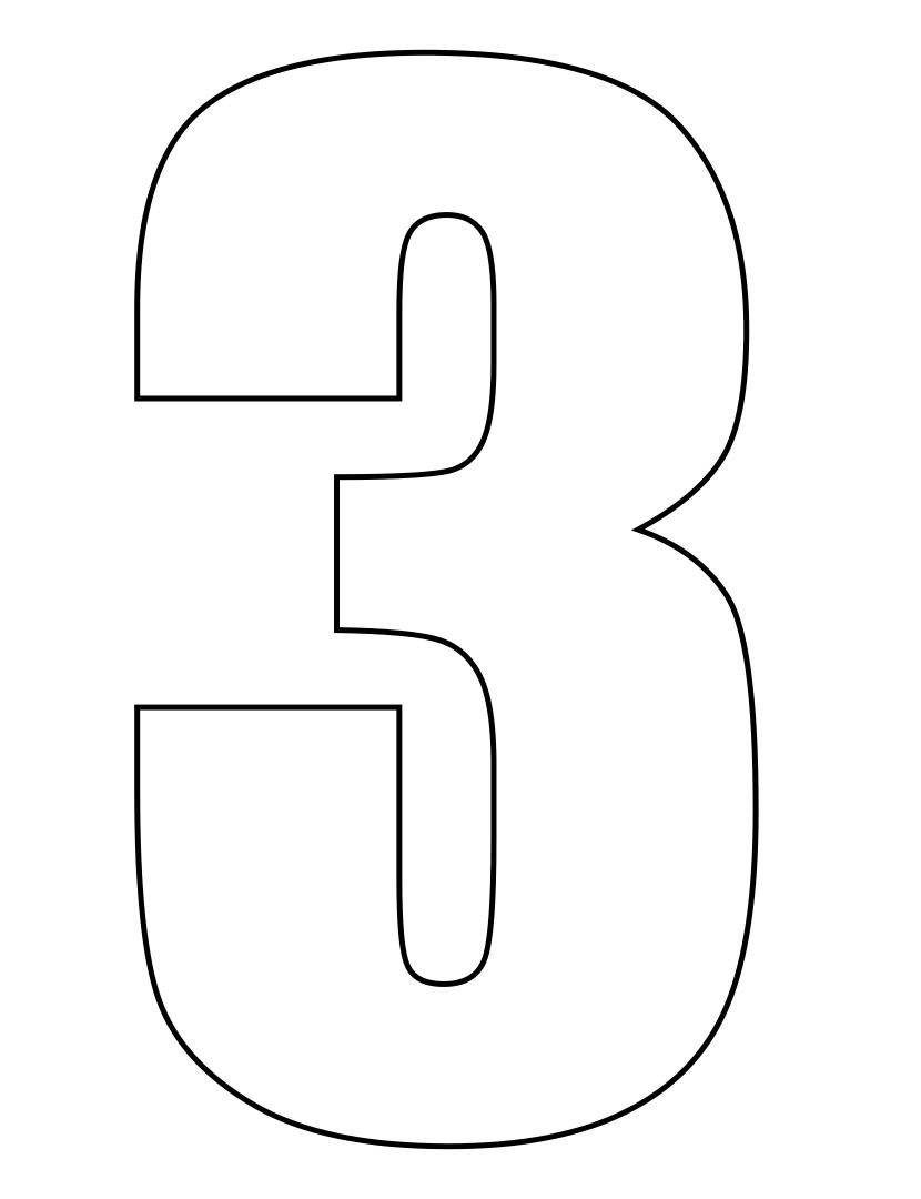 Number 3 Stencils Printable