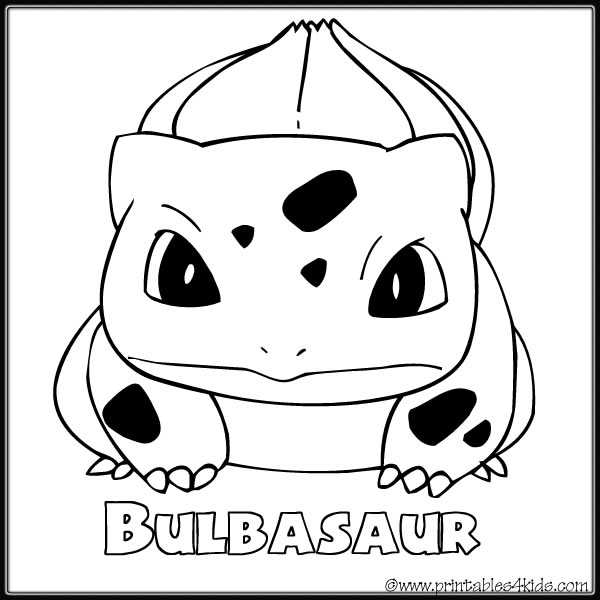 4 Images of Pokemon Bulbasaur Coloring Pages Printable