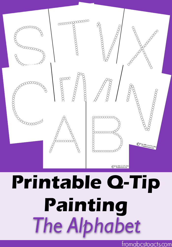 8 Images of Q-Tip Letter Preschool Printables