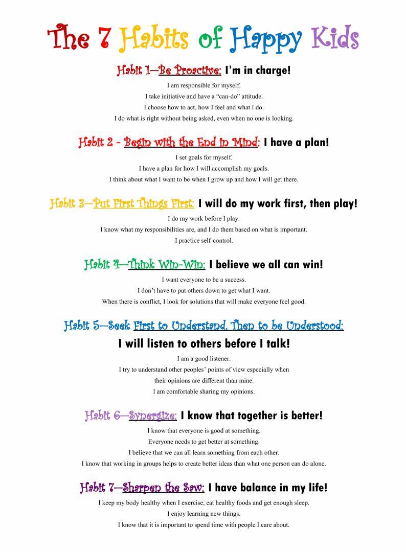 Printable 7 Habits Leader in Me
