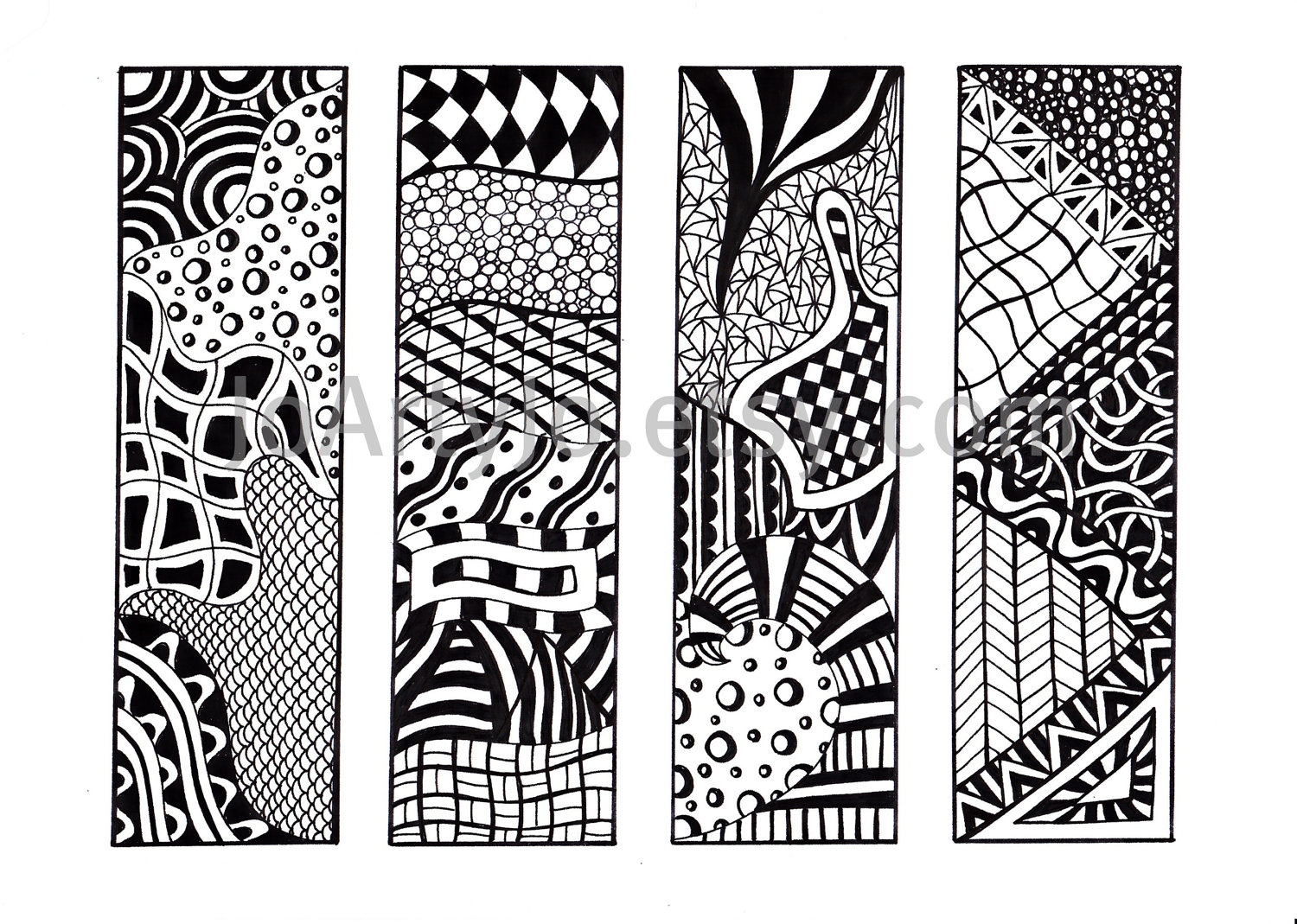 Printable Bookmarks Black and White