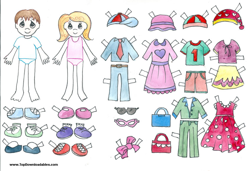 4 Images of Printable Boy Paper Doll Template