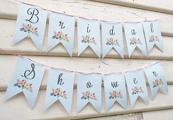 6 Images of Rustic Bridal Shower Banner Printable