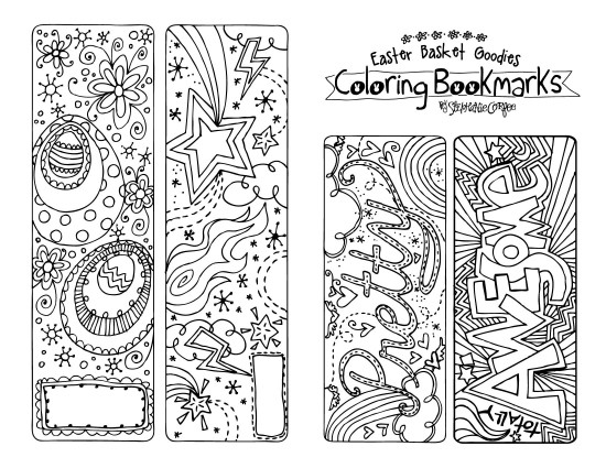 Printable Easter Bookmarks to Color