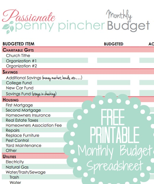 monthly budget planner worksheet free budget planner worksheet free 1000 images about anized. Black Bedroom Furniture Sets. Home Design Ideas