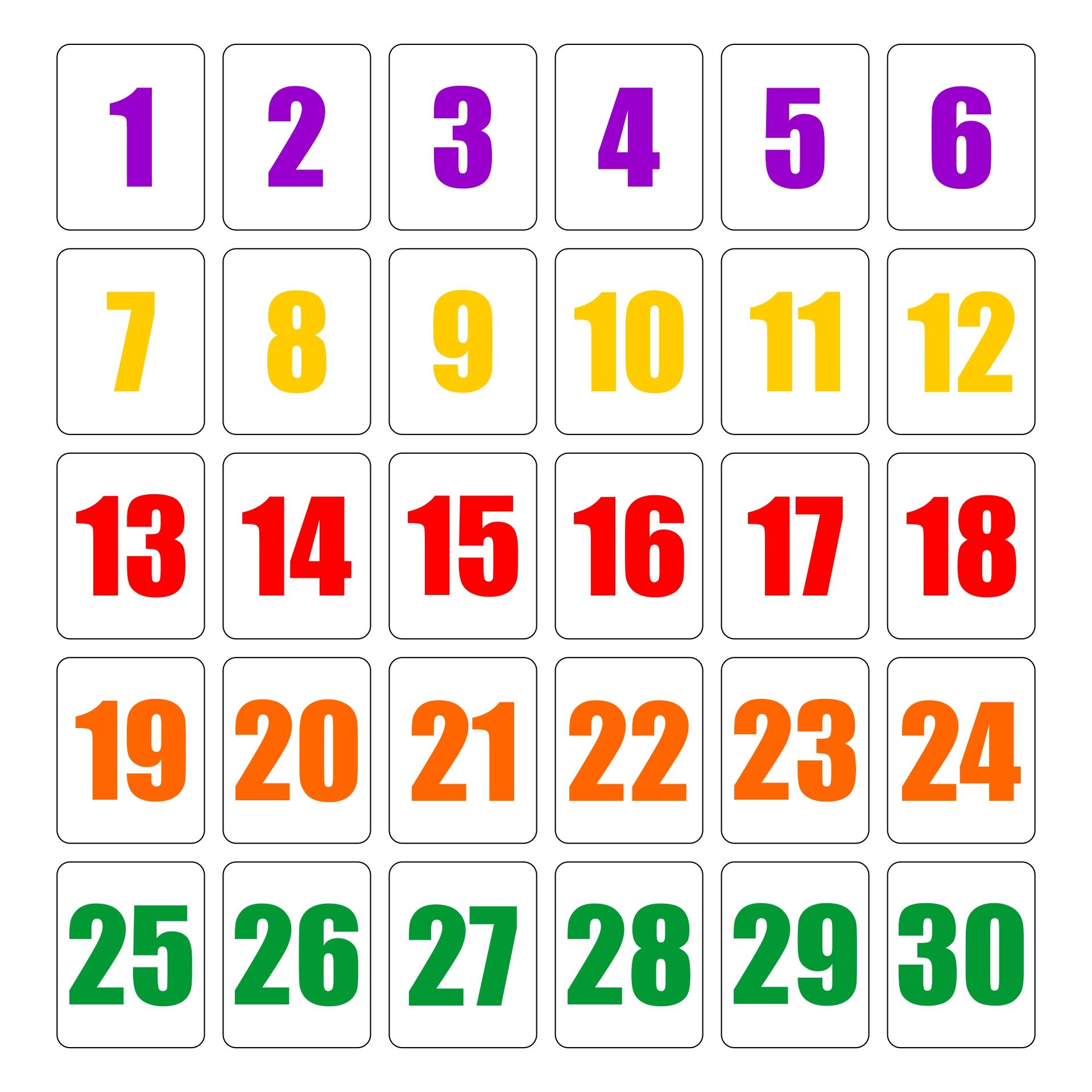 Worksheet Numbers Printable printable numbers 1 30 scalien