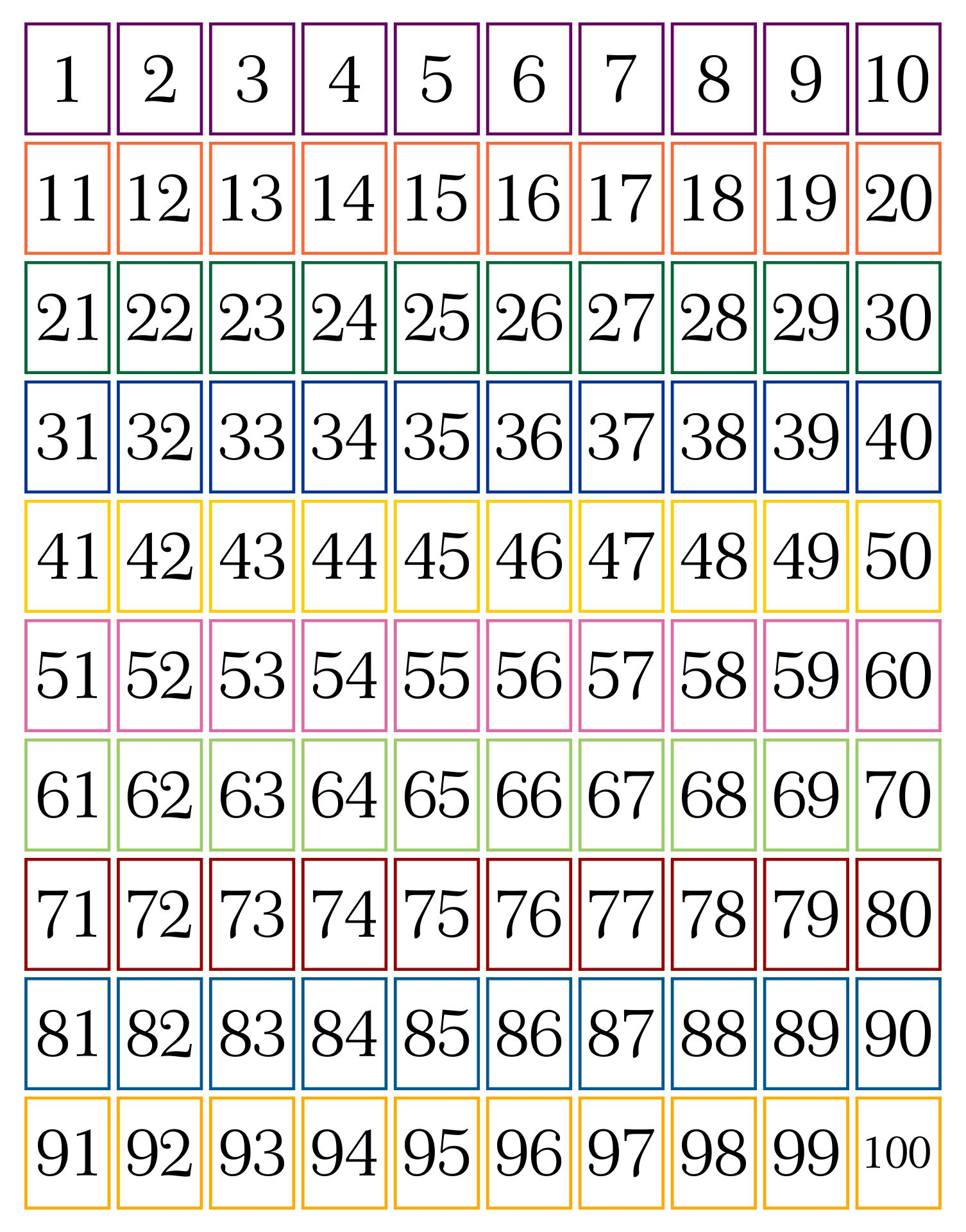Printable Number Cards 1 30 Pictures to Pin on Pinterest
