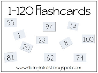 4 Images of 1 50 Printable Flashcards