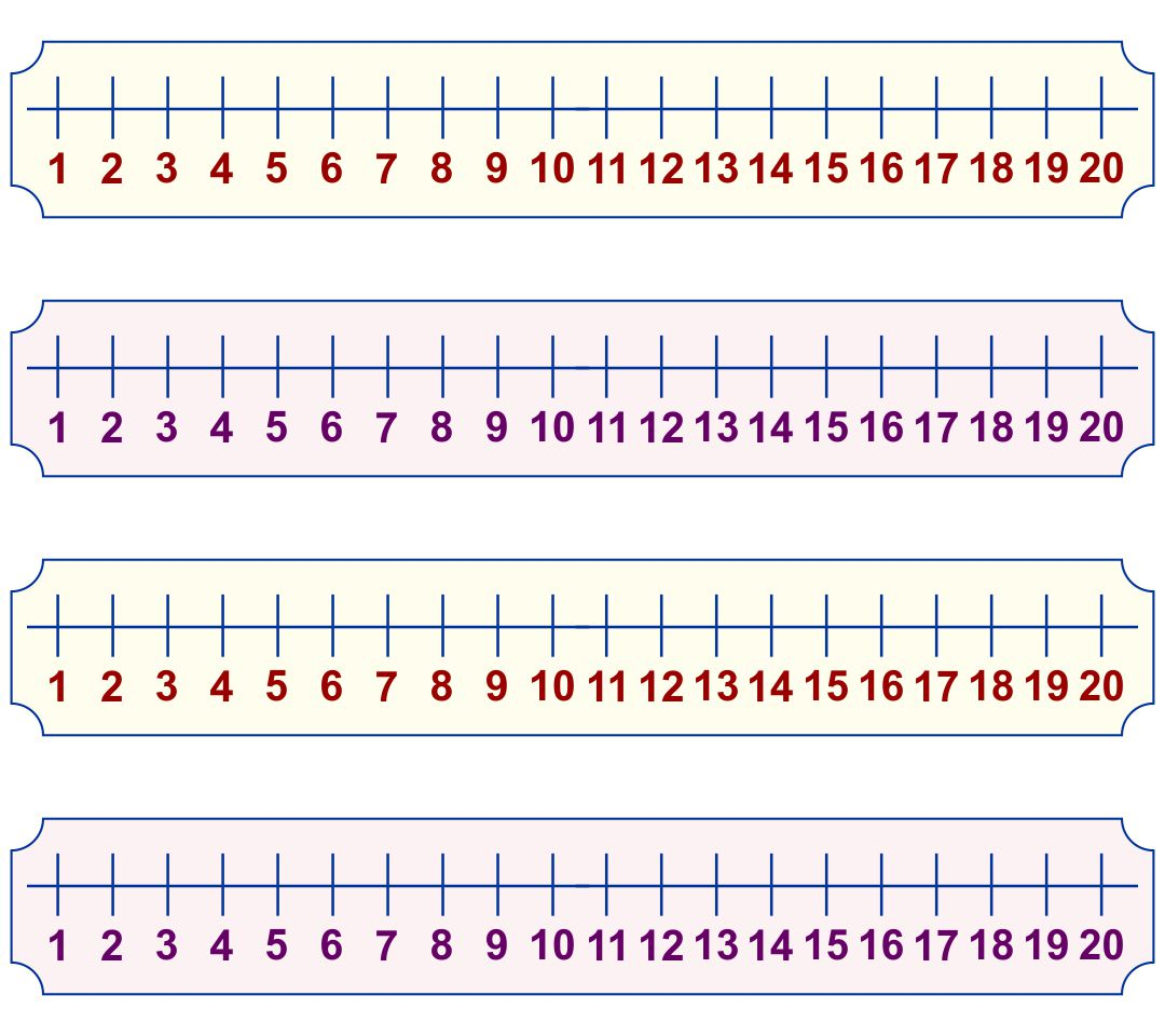 8 Images of Kindergarten Number Line Printable 0-20