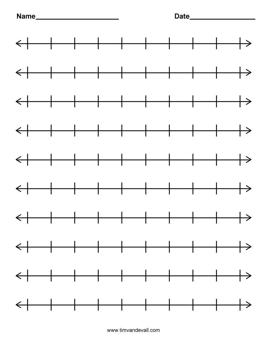 6 Images of Printable Number Line
