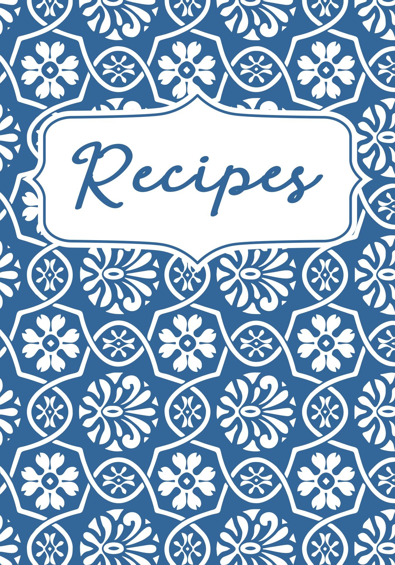Recipe Book Cover Design ~ Best images of printable cookbook covers to print