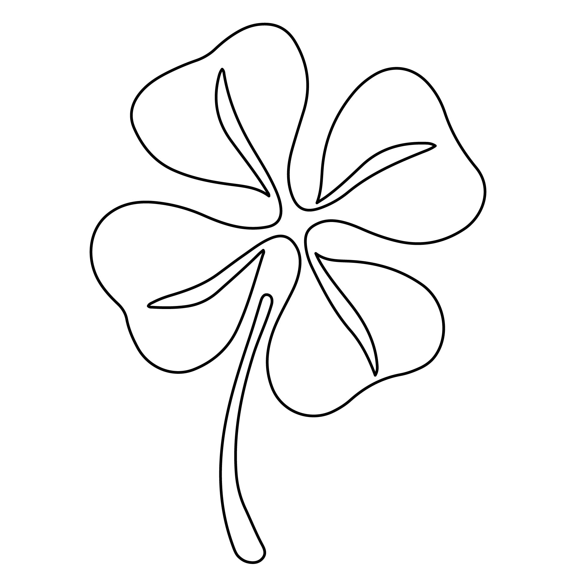 5 best images of free printable shamrock cutouts for Shamrock cut out template