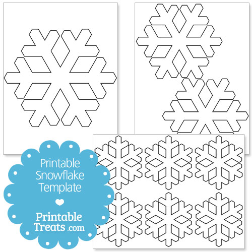 5 Images of Printable Small Snowflake Templates