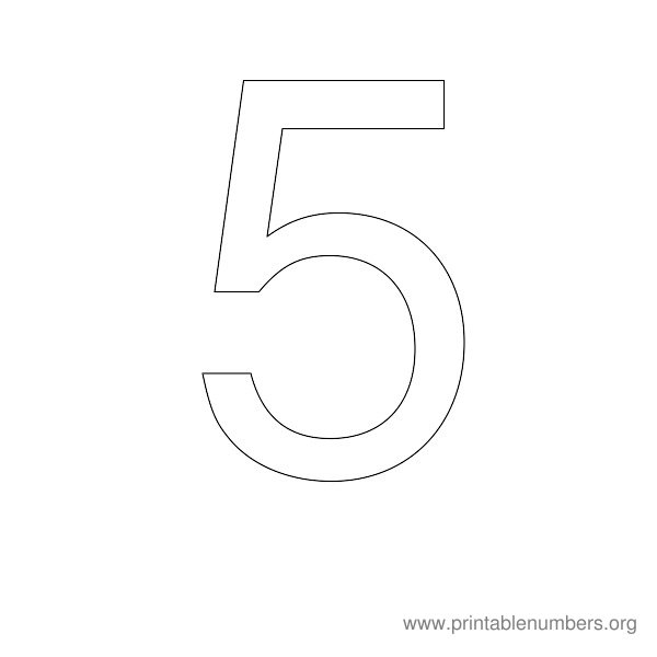7 Images of Printable Number Stencil 5
