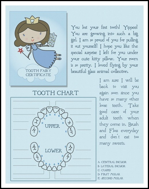 7 Images of Free Printable Tooth Fairy Letter