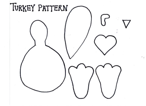6 Images of Printable Turkey Pattern Template