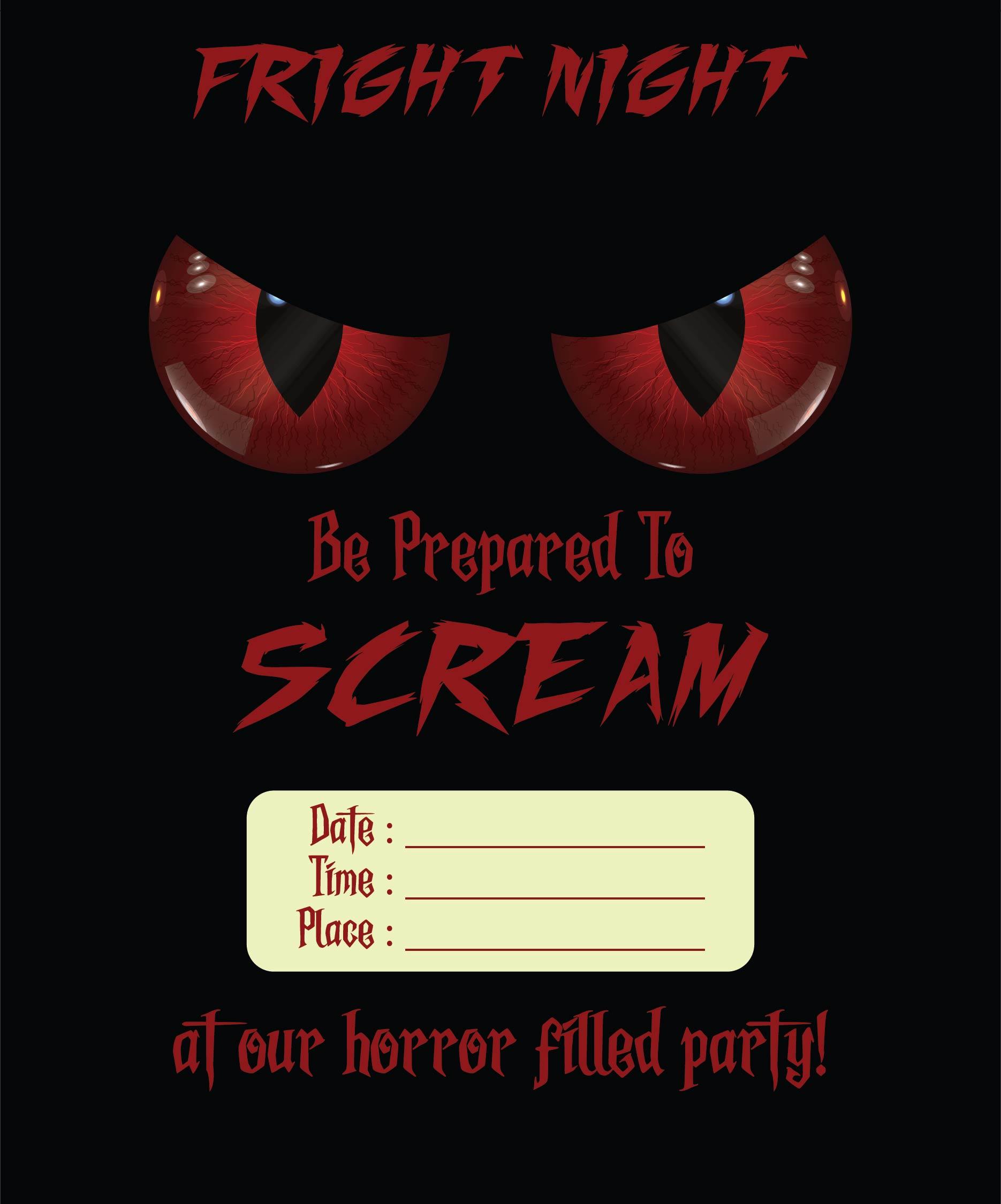 Scary Halloween Invitation Templates Printable Free