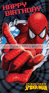 best images of printable spiderman happy birthday card  free, Birthday card