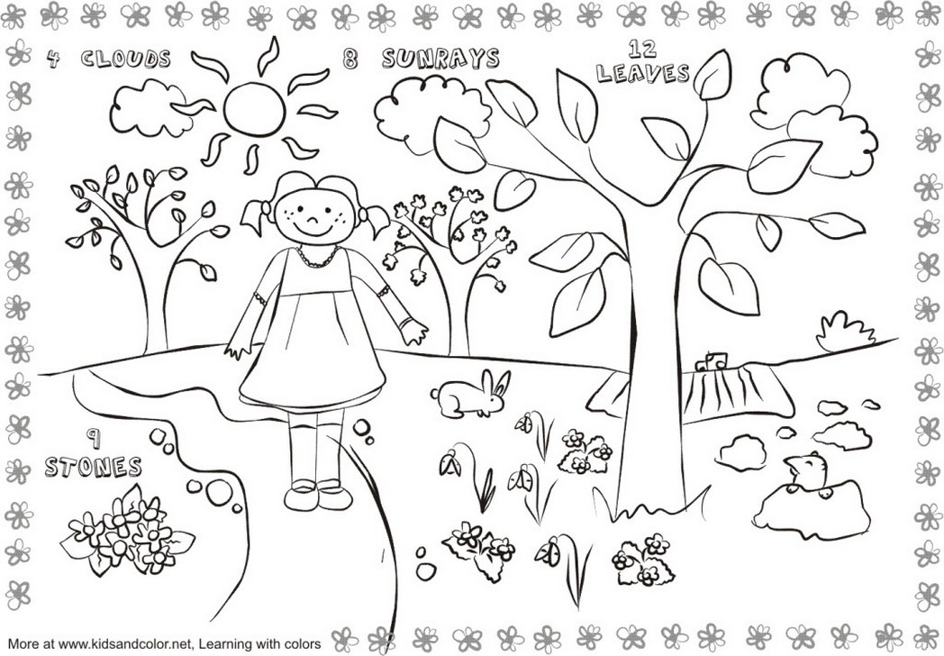 4 Images of Printable Spring Coloring Activities