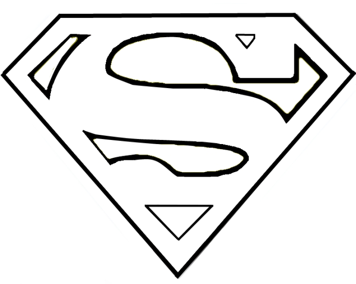 7 Images of Printable Superman Symbol Template