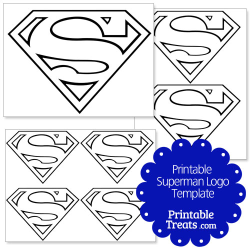 7 best images of printable superman symbol template