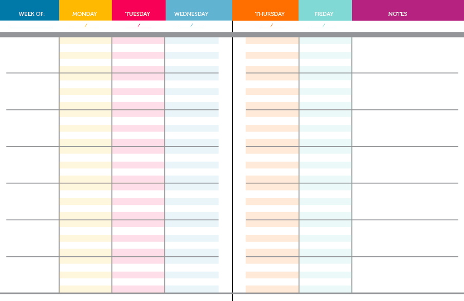 8 Images of Printable Teacher Weekly Planner Template