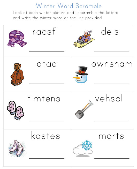 Best Images Of Free Printable Winter Worksheets Math