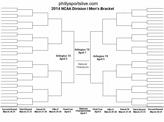 9 Images of March Madness Printable Bracket 2014