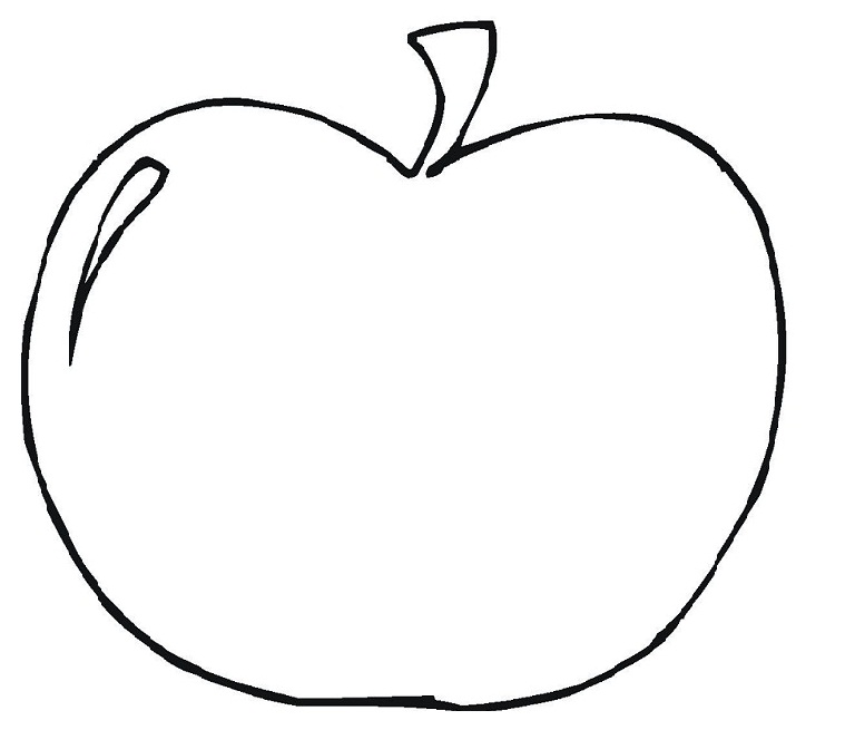 5 Images of Apple's Printable Coloring Pages