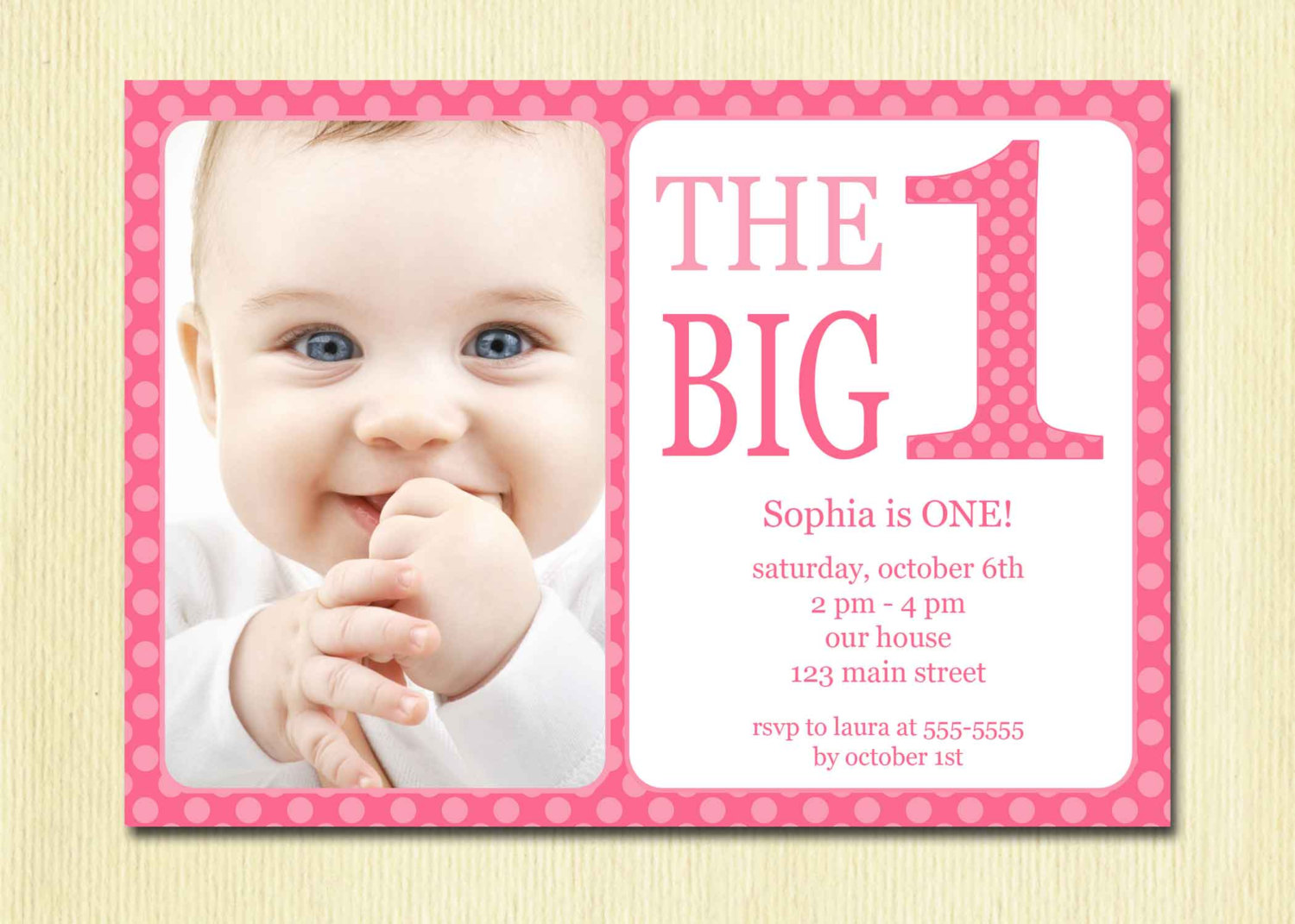 7 Images of First Birthday Party Invitations Printable Free