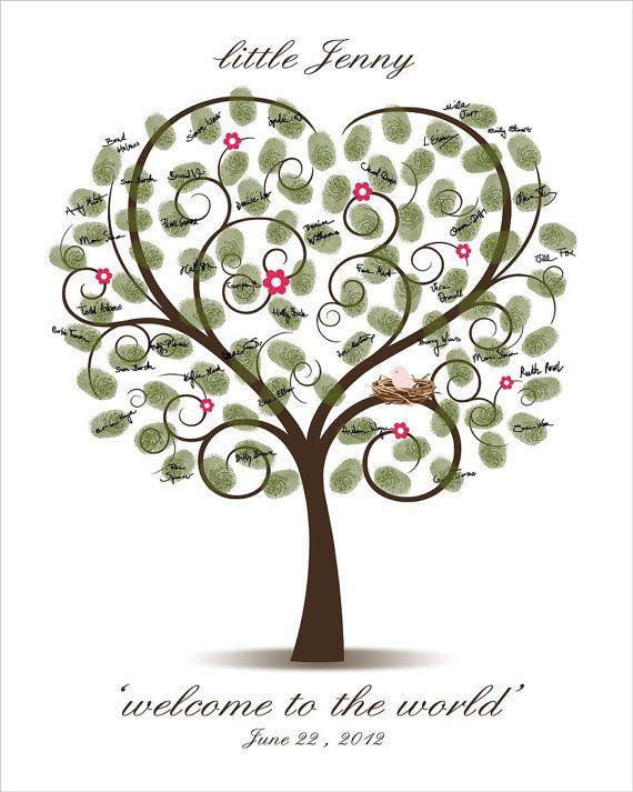 baby shower tree free printable baby shower thumbprint tree baby