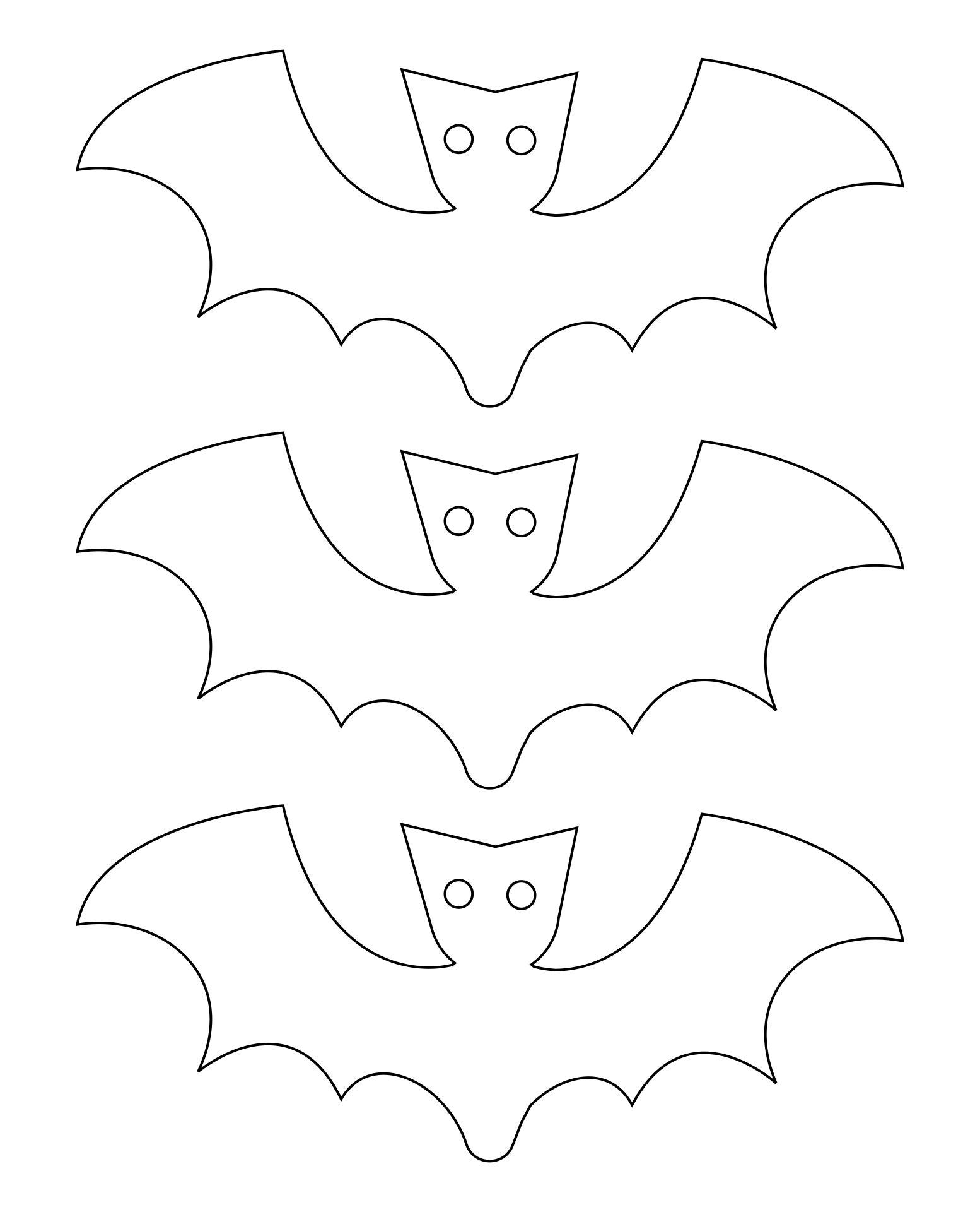 Bat Cut Out Template