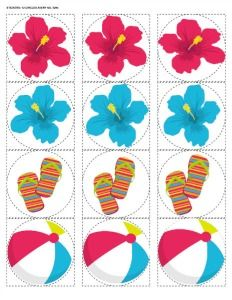 6 Images of Luau Pool Party Free Printables