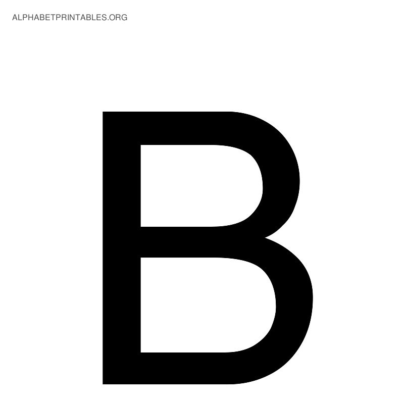 5 Images of Printable Alphabet Letter B