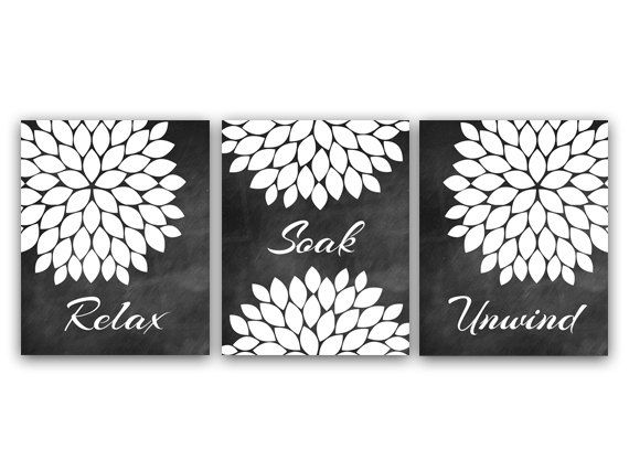 Black and White Bathroom Wall Art