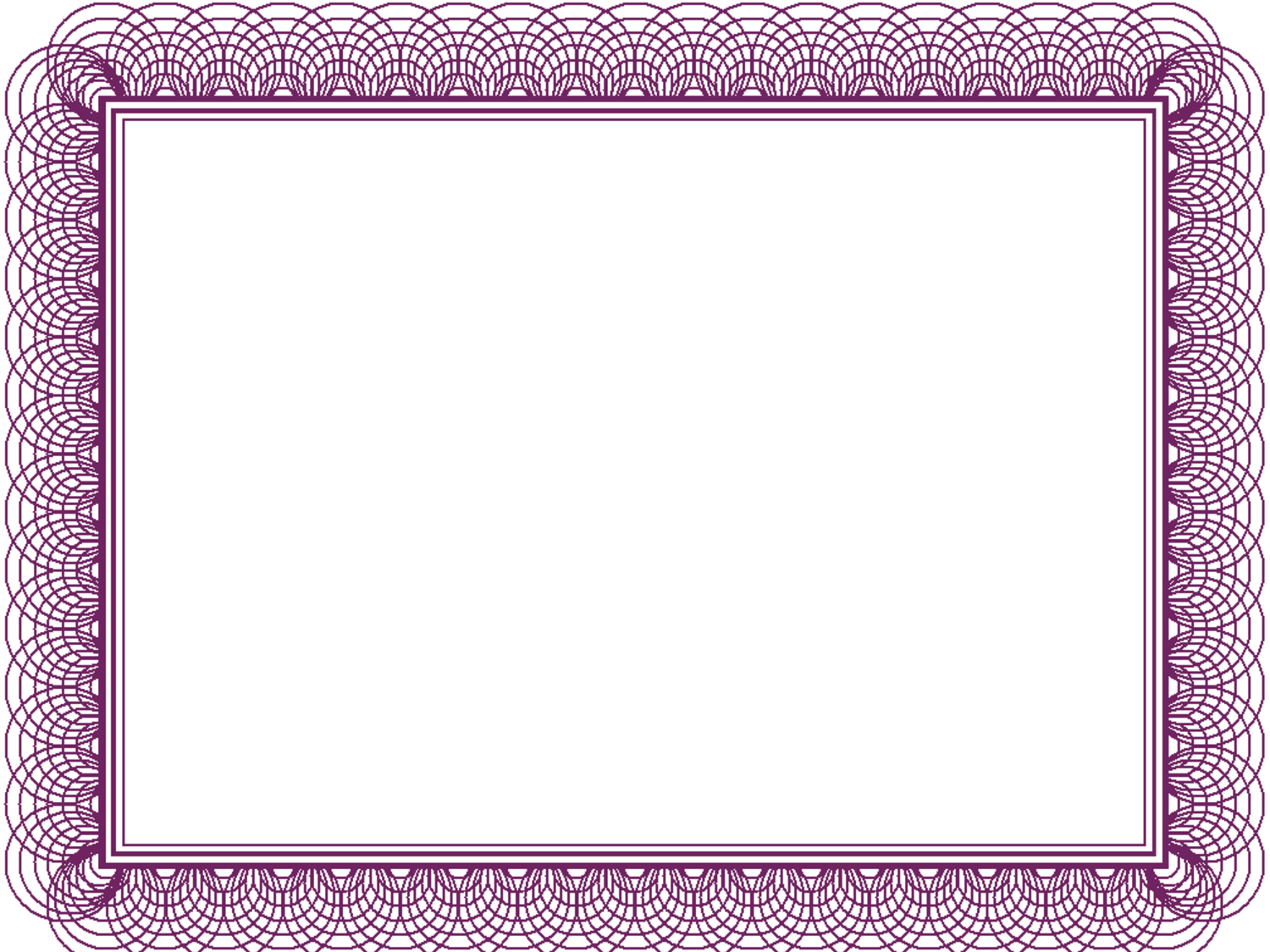 ... Free Printable Purple Flower Borders and Certificate Border Templates