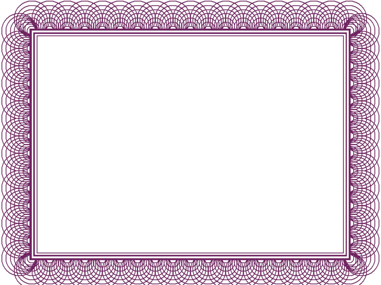 ... Borders Purple, Certificate Border Templates & Purple Wedding Borders