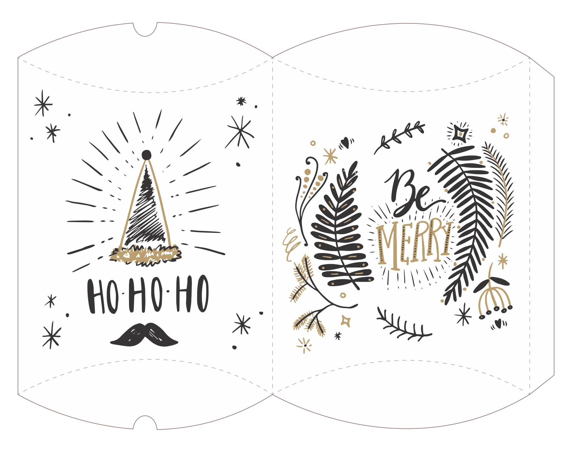 Christmas Box Template Printable