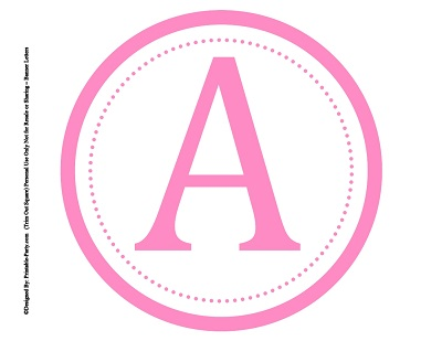 7 Images of Free Printable Pink Letters