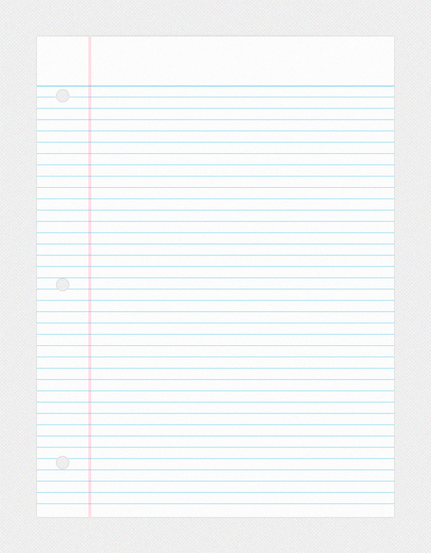 Print lined notebook paper