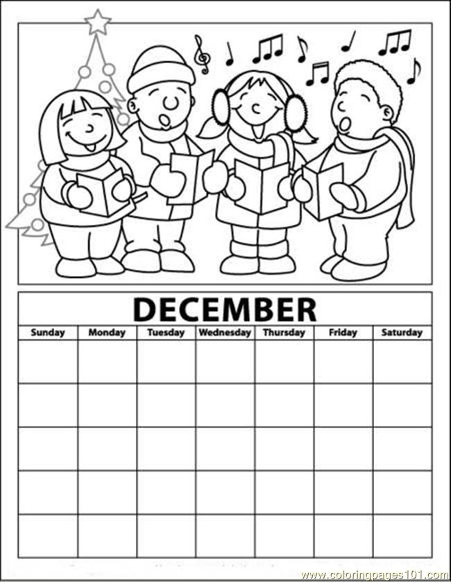 7 Images of Free Printable Calendar Coloring Pages